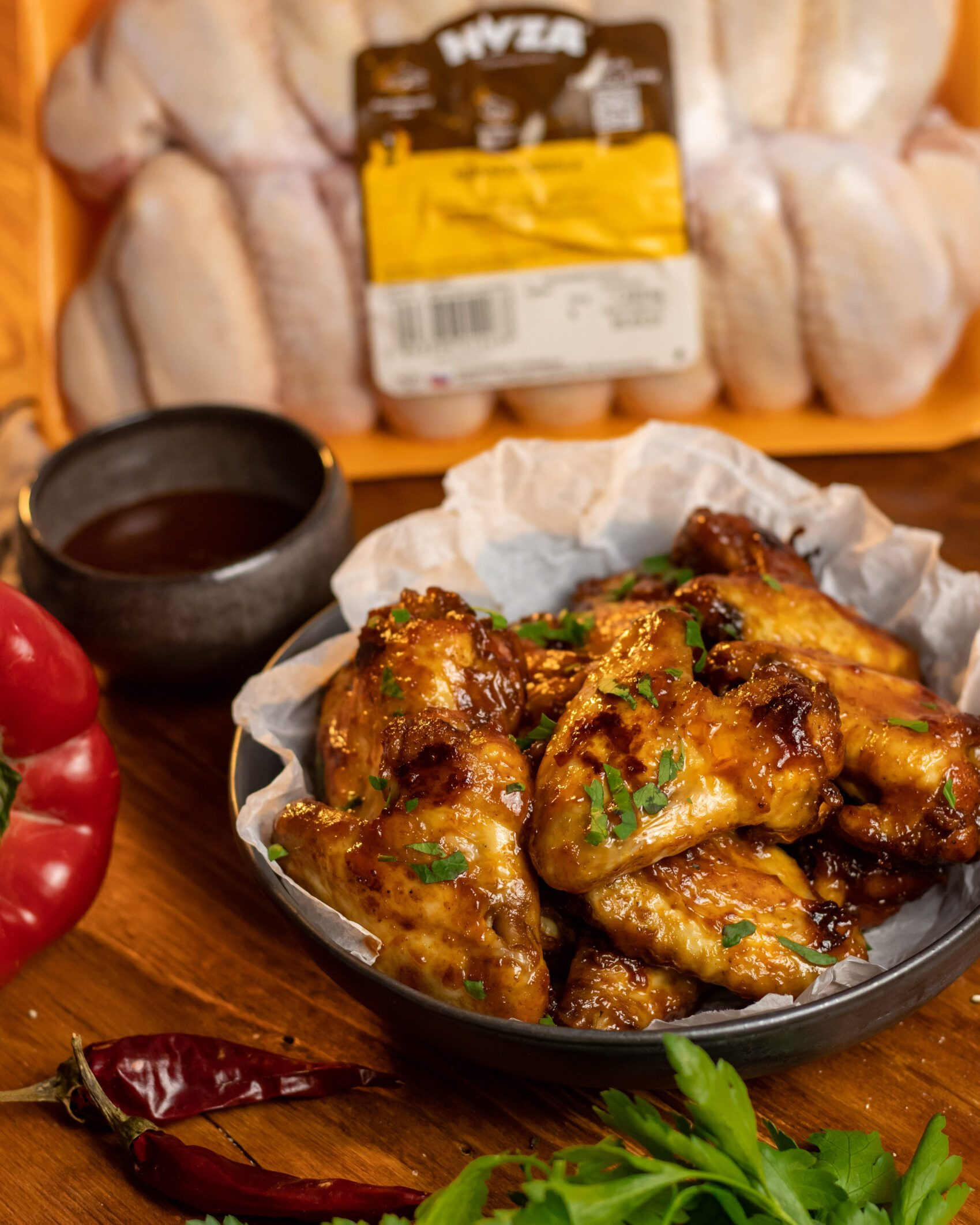 kuracie krídla v barbecue omáčke